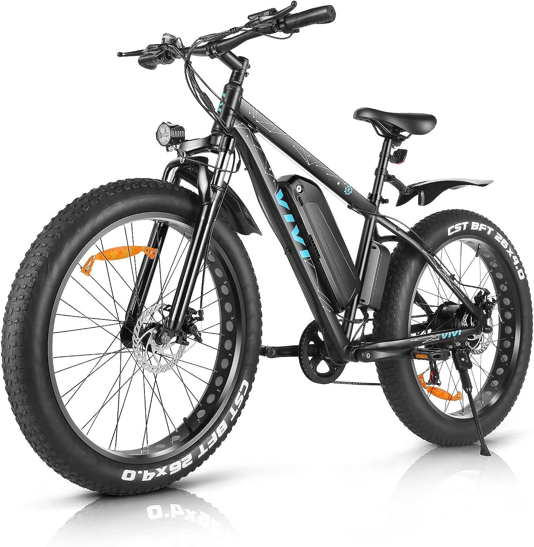 VIVI 26 Inch Max 55% Atlanta Mall OFF Electric Bike 500W Fat Tire E-Bike