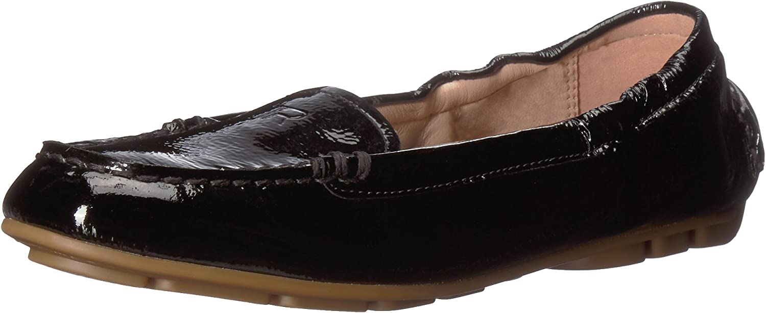 Taryn pink Women's Kristine Crinkled Patent Driving Style Loafer