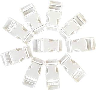 IPEA Lot de 10 boucles en plastique à double clic - Taille 20 mm - Boucle à dégagement rapide pour sac à dos, accessoires,...