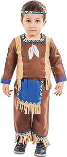 EUROCARNAVALES Kinder Kost/üm Indianer Kenai Alter 1-2 Jahre Einheitsgr/ö/ße Baby Kleinkind Cowboy Rothaut Western Fasching Karneval