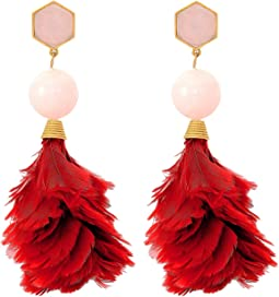 Tory Burch - Feather Drop Earrings