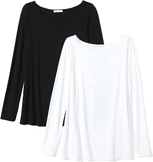 Amazon Brand - Daily Ritual Women's Jersey Long-Sleeve Bateau-Neck T-Shirt