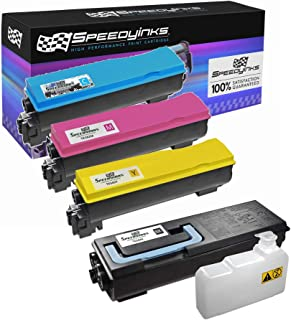 Speedy Inks Compatible Toner Cartridge Replacement for Kyocera-Mita TK-582 Series (1 Black, 1 Cyan, 1 Magenta, 1 Yellow, 4-Pack)
