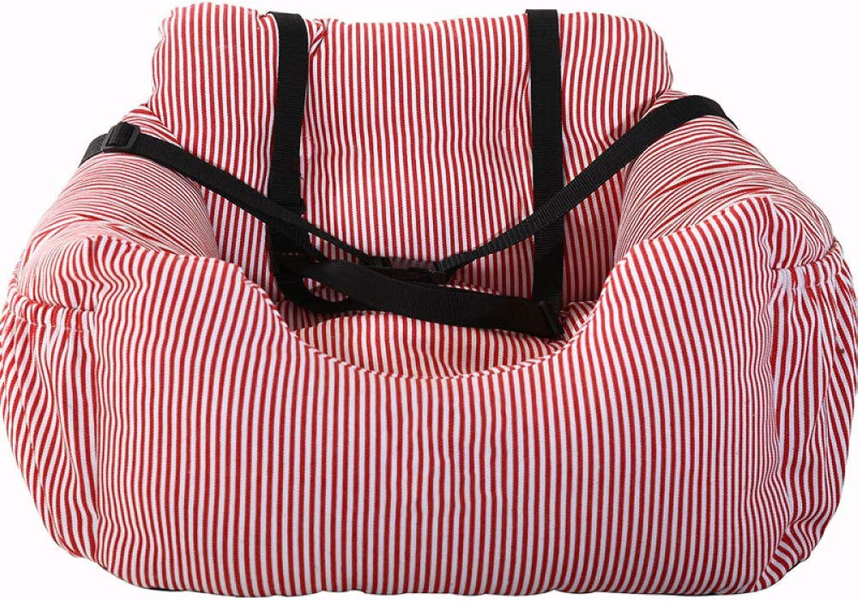 Pet Out Car Stroller Dog Car Mat Seat Belt Travel Car Nest,Red55  50  30cm
