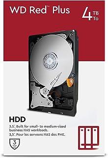"WD Red Plus 4TB NAS 3.5"" Internal Hard Drive - 5400 RPM Class, SATA 6 Gb/s, CMR, 64MB Cache"