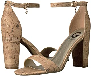 Womens Shantel3 Open Toe Special Occasion Ankle Strap, Tan, Size 8.5