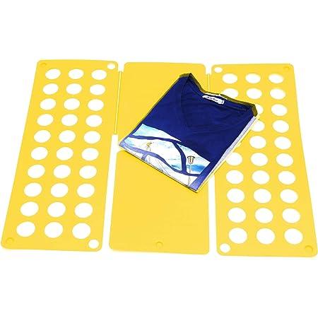 Takit Tabla para Doblar Ropa Amarillo - 70x59cm - Tabla para Doblar Camisas - Tabla para Doblar Vestidos Pantalones Toallas Camisetas/Organizador De ...
