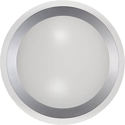 LED Deckenleuchte Badezimmerlampe CLARIMO weiß Acryl weiß Ø 33 cm