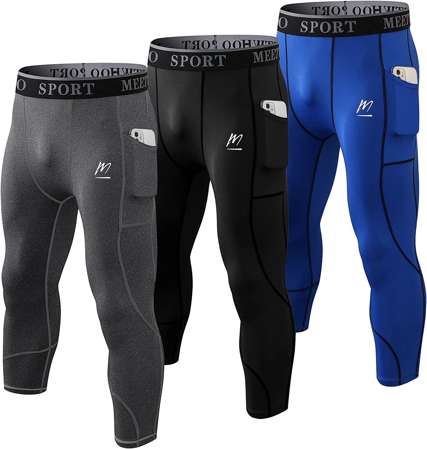 MEETWEE Max 50% OFF Men's Compression Pants Cool Athletic Recommendation Tight Running Dry