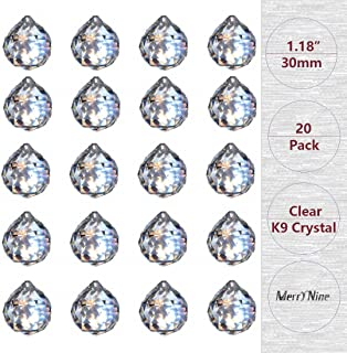 MerryNine Clear Crystal Ball Prism Suncatcher Rainbow Pendants Maker, Hanging Crystals Prisms for Windows, for Feng Shui, for Gift(30mm/1.18