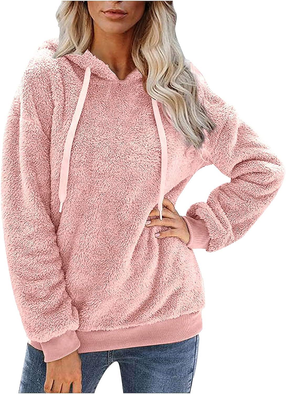Plus Size Fleece Hoodie for Womens Full Zip Up Jacket Warm Fuzzy Cozy Loose Pullover Hooded Sweatshirt Outwear