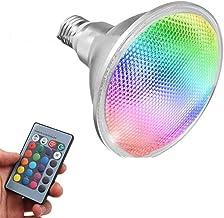 Led gloeilampen 20W RGB Par38 IP65 Waterdicht PAR LICHT COB PAR38 Breedte Afstandsbediening Zeven Kleuren Verlichtingsbollen