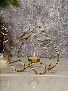 CraftVatika Heart Shape Tealight Candle Holders Tea Light Candle Holder Stand Decorative for Home Decor Items Living Room ...