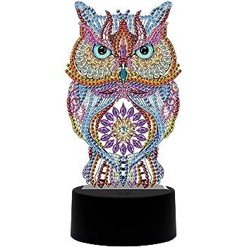 Diamond Paintings cross 5D Full Drill Owl Sugar Skull Elegant Stitch Kits