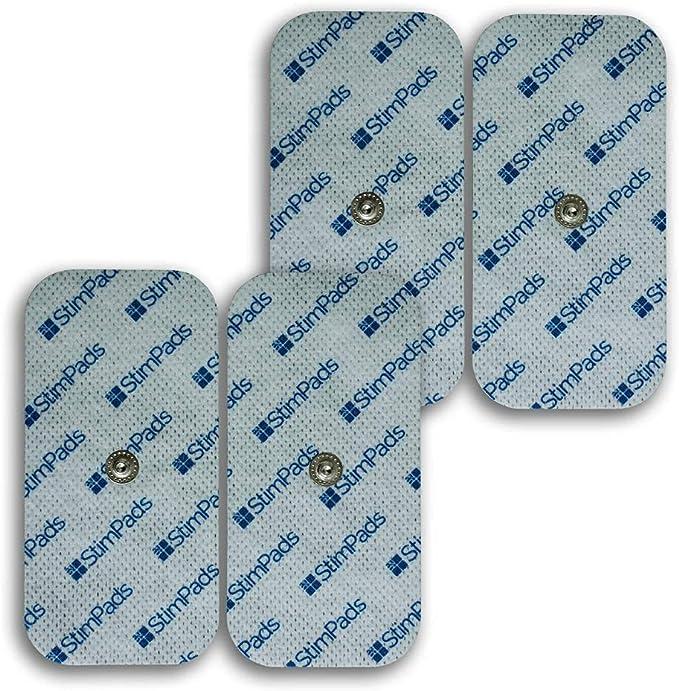 """172 opiniones para StimPads Electrodos para Compex*, envase con 4 electrodos 50x100mm de """"UN Snap""""."""