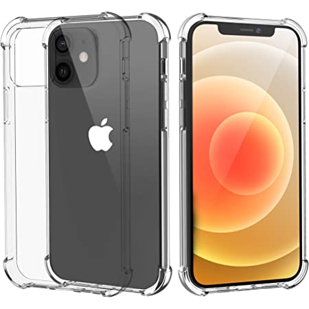 Migeec Compatible with iPhone 12 and iPhone 12 Pro Clear Case Shockproof Full Protection Phone Cases 6.1 inch