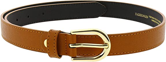 FASHIONGEN - Premium Durable Genuine Italian-Made Leather BELT for Women, MELANIE