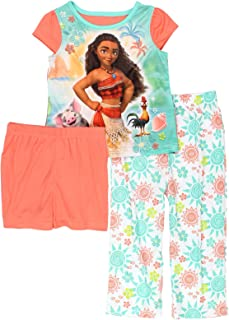 Moana Toddler Girl's Cap Sleeve 3-piece Pajama Set
