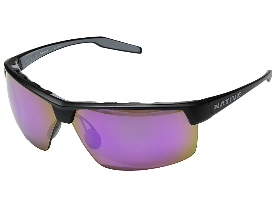 Native Eyewear Hardtop Ultra XP (Matte Black/Violet Reflex Polarized Lens) Sport Sunglasses