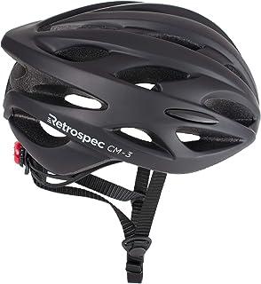 Retrospec CM-3 - Casco de bicicleta con luz LED de seguridad y dial ajustable y 24 rejillas de ventilación