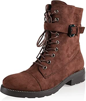 AIIT Women's Fashion Chunky Low Heel Ankle Boot