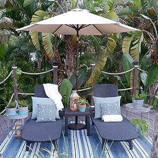 Abba Patio Outdoor Patio Umbrella Market Table Umbrella with Push Button Tilt and Crank, 9-Feet, Cream