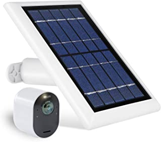Wasserstein Solar Panel with 13.1ft/4m Cable Compatible with Arlo Ultra & Arlo Pro 3 ONLY - Power Your Arlo Surveillance C...