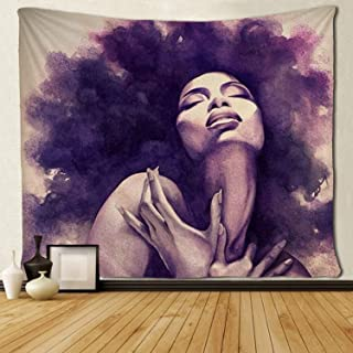 SARA NELL Tapestry African American Sexy Women Lady Tapestries Wall Art Hippie Bedroom Living Room Dorm Wall Hanging Throw Tablecloth Bedspread(50