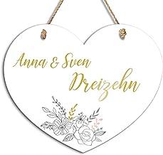 Naambordje om op te hangen met leuk design en tekst naar wens, inclusief mooi koord, ideaal deurbordje in de tuin, aan de ...