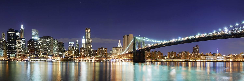 Artland Artland Artland Qualitätsbilder I Wandtattoo Wandsticker Wandaufkleber 150 x 50 cm Städte Amerika Newyork Foto Blau D8OE City Skyline Brooklyn Bridge B07DRHPWRF 1ce11b