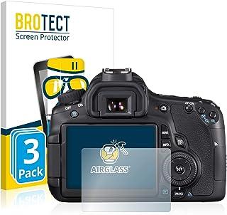 BROTECT Protector Pantalla Cristal Compatible con Canon EOS 60D Protector Pantalla Vidrio (3 Unidades) Dureza 9H AirGlass