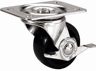 Rubber Wheel 2-9//16 Plate Length 1-7//8 Plate Width 2 Wheel Dia 13//16 Wheel Width 2-1//2 Mount Height 1-7//8 Plate Width Swivel 2-1//2 Mount Height Plain Bearing 125 lbs Capacity 13//16 Wheel Width 2 Wheel Dia RWM Casters 31 Series Plate Caster