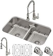 Kraus KCA-1200 Ellis Kitchen Sink and Faucet, Spot Free Stainless Steel