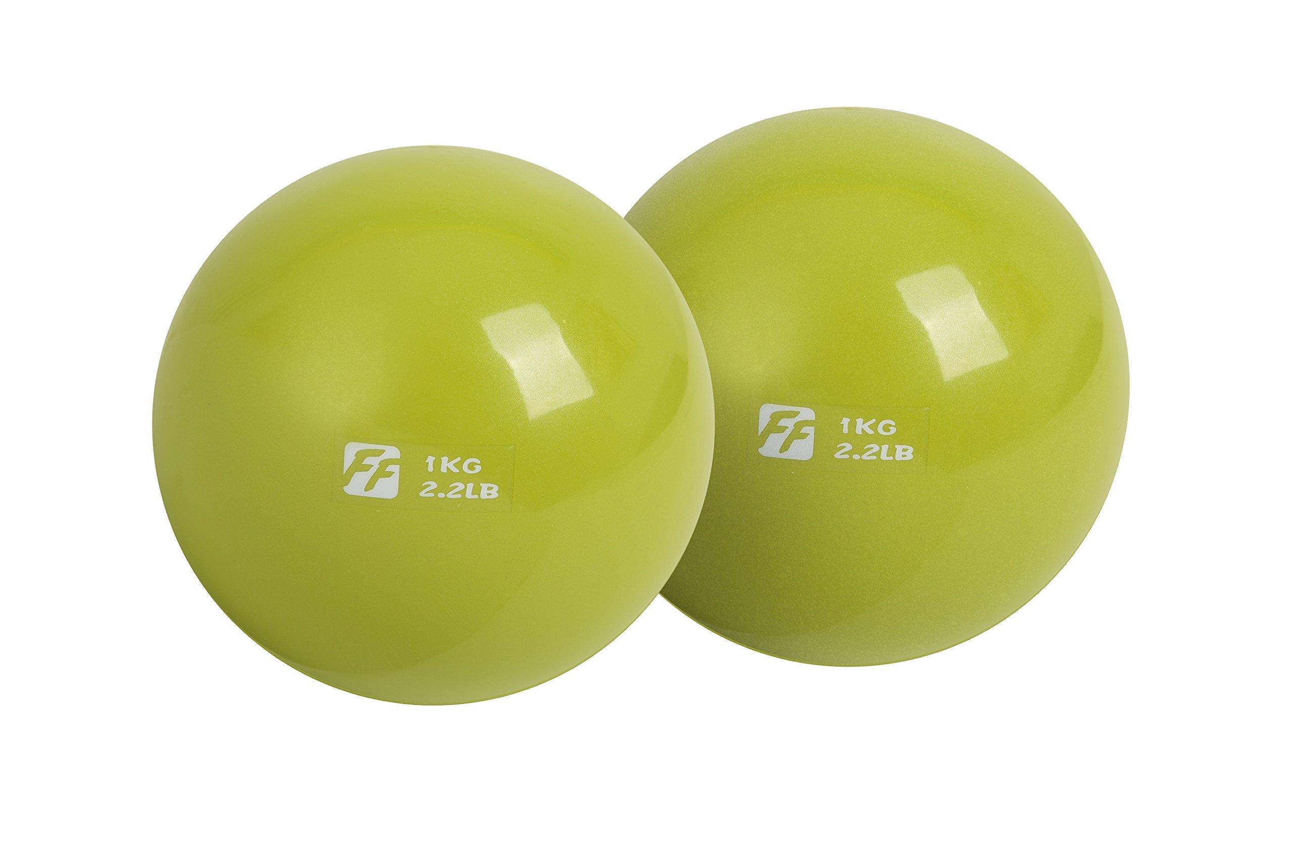 FuntionalFitness - Par de pelotas de tonificación para yoga, 2 x 1 ...