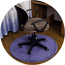 Area Carpet Round Carpet Nursery Rugs Carpets Solid Color Chenille Material Bedroom Home Computer Chair Swivel Chair Mat M...