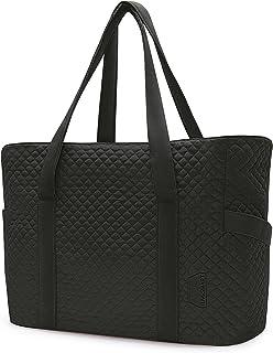 Tote Bag Large Shoulder Bags Handle Handbag with Yoga Mat Buckle for Gym, 15.6'' Laptop Bag for Work, School