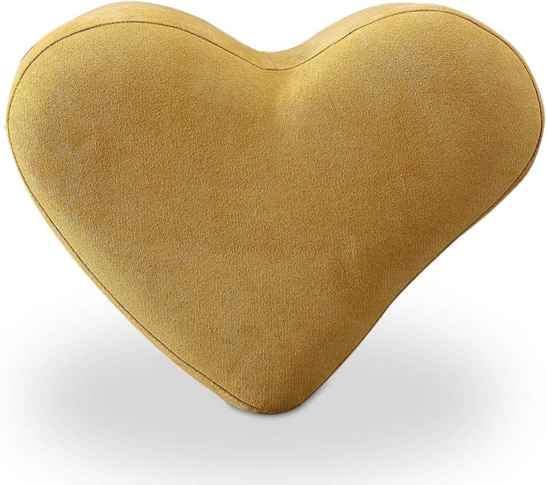 Sofa Stool Change shoes Stool Solid Wood Cotton Creative Heart-Shaped Makeup Stool