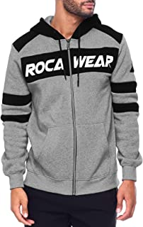 Rocawear New Authentic Mens Big /& Tall Sky Blue White Colorblock Pullover Long Sleeve Sweatshirt