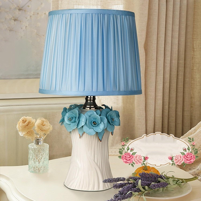 Tischlampe Koreanische Keramik-Tabellen-Lampen-Schlafzimmer-Nachttischlampen-Hochzeits-Zeremonie-Geschenk-Pastorale Prinzessin-Tabellen-Lampe (mehrfarbige wahlweise freigestellte) Best Value B06X929WJR     | Preiszugeständnisse
