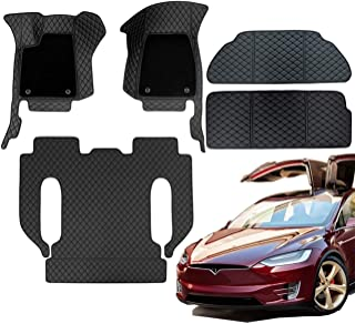Topfit Model X 6 Seat Floor Mats All-Weather Mats Included Front and Rear Trunk Mat Car Carpet for Tesla Model X 2016-2021...