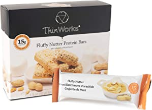 ThinWorks Fluffy Nutter Low-Carb Protein Bars, Low-Calorie Protein Snacks for Weight Loss and Healthy Meals