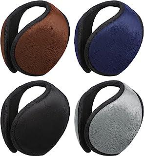 4 Pieces Ear Muffs For Winter Ear Warmer Ear Covers Behind The Head Ear Muffs for Men Women Outdoor