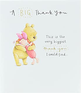 Thank You Card - Disney Card - Featuring Winnie The Pooh and Piglet