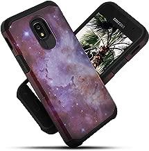 Celljoy Case compatible with Samsung Galaxy J3 2018/J3 Achieve/J3 Star/J3 V 3G [Liquid Armor Design] ((Shock Proof)) Slim Protection [Hybrid TPU Hard PC Shell](Glossy Space Galaxy)