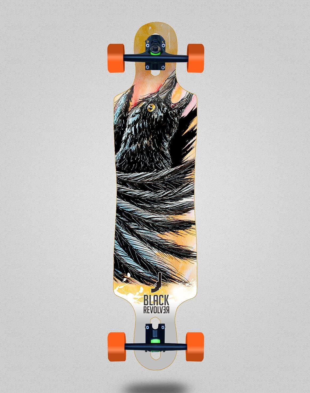 Black Revolver Complete Skateboard Longboard Raven 40x9 New Orleans Mall Denver Mall Acrylic