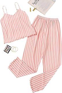 Milumia Women's 2pcs Pajama Set Sleeveless Cami Top and Shorts Sleepwear