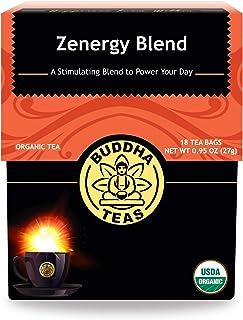 Organic Zen-ergy Blend Tea - Kosher, Contains Caffeine, GMO-Free - 18 Bleach-Free Tea Bags
