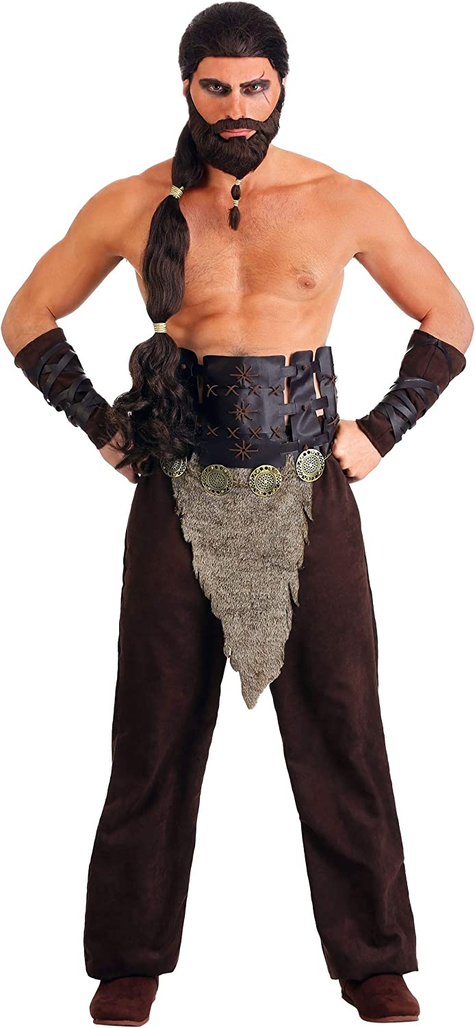 Mens Nomadic Warrior Costume Leather Armor Gifts Horse Low price