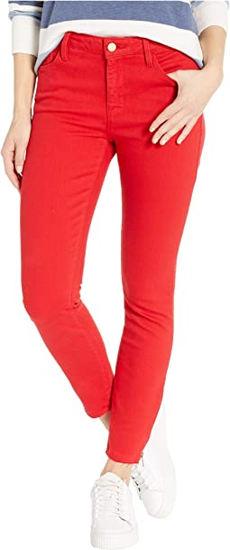 Social Standard Ankle Zip Jeans in Street Red