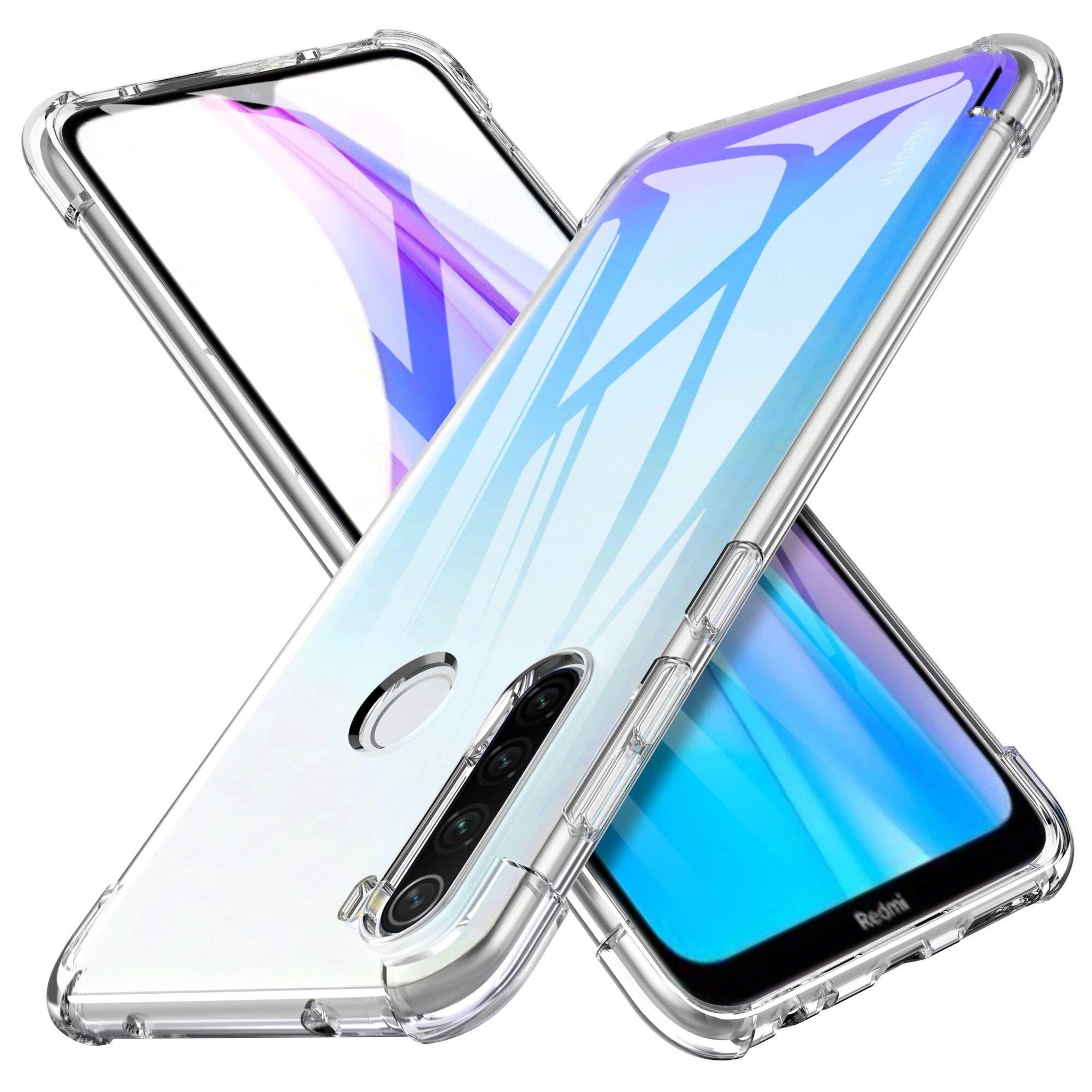iBetter Diseño para Funda Xiaomi Redmi Note 8T Funda, [Protección de Cuatro ángulos] TPU con Superficie Mate Silicona Fundas para Xiaomi Redmi Note 8T Smartphone.Transparente: Amazon.es: Electrónica